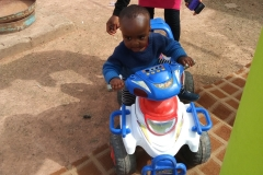 2018 Children Party @ Ungwa Makama-a child-beneficiary enjoying at the play ground