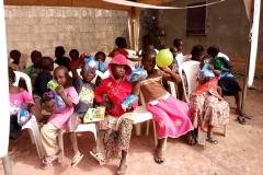 2018 Children Party @ Ungwa Makama-beneficiaries showing their gift